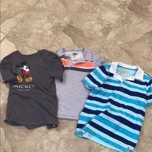Three boys short sleeve shirts size 7